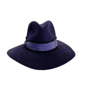Navy Blue Wool Felt Stetson Hat